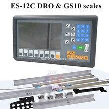 Nouveau Easson ES-12C 3 axes DRO système moulin tour 3 axes lecture numérique et 3 pièces GS10 numérique échelle linéaire pour le fraisage de tour