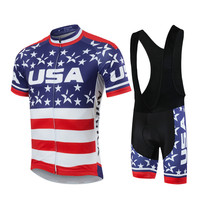 National Team USA Cycling Clothing Short Sleeve Cycling Set Pro Team Mtb Jersey Bike Bicycle Clothes Cycling Wear Ropa Ciclismo