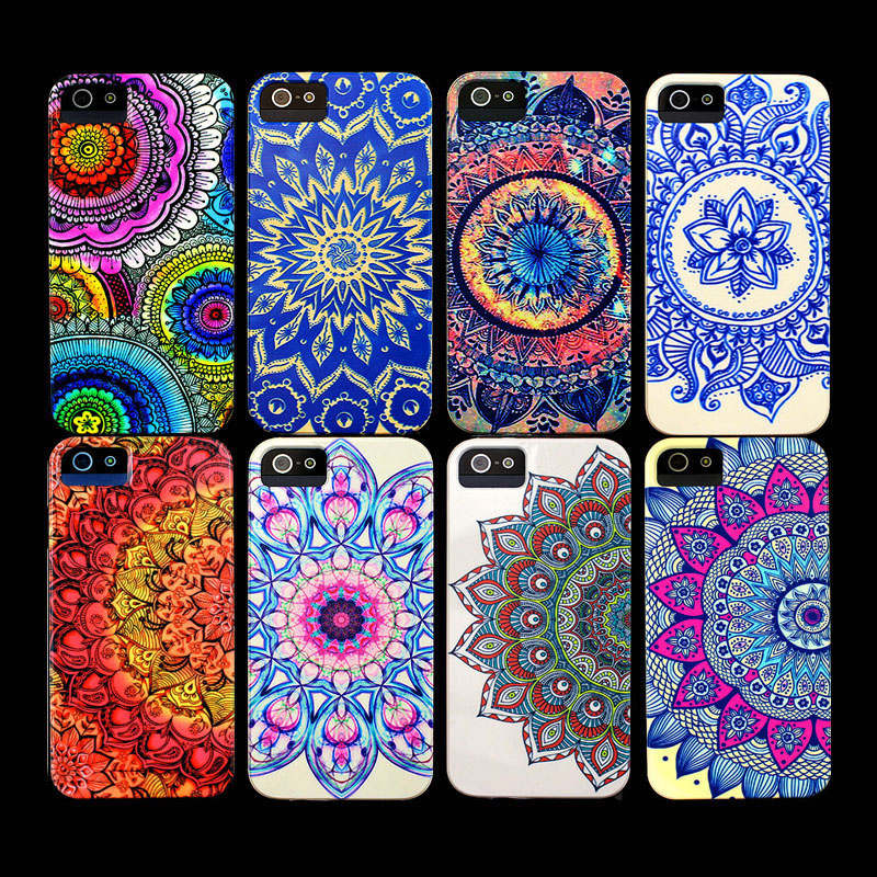 Hot Aztec Mandala Flower Colorful Cute Cover Phone Case For IPhone 4 Case For Iphone 4s Case On
