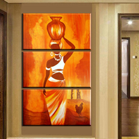 Xh2265 Modern Abstract Canvas Art African Woman Canvas Pictures Wall Art Prints Poster For Living Room