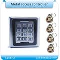 Металлический корпус rfid 125 кГц идентификационная метка устройство чтения карт безопасности кнопочная панель управления доступом Бесплатн...