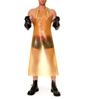 Latex Long Apron Latex Rubber Men's Transparent Latex Men's Dress