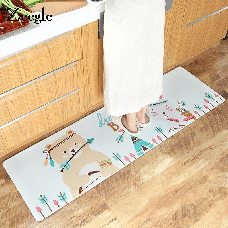 Zeegle tapis de cuisine PVC tapis de sol extérieur paillasson anti-dérapant Table basse tapis de cuisine tapis salon tapis chambre - 5