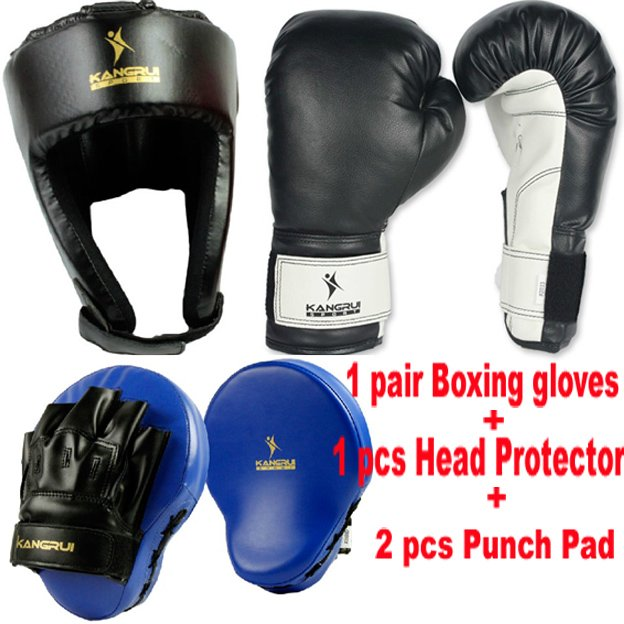 High Quality Boxing Training Gloves Head Protect Protector Hemlet Punch Pad Focus mitt Muaythai muay Combination