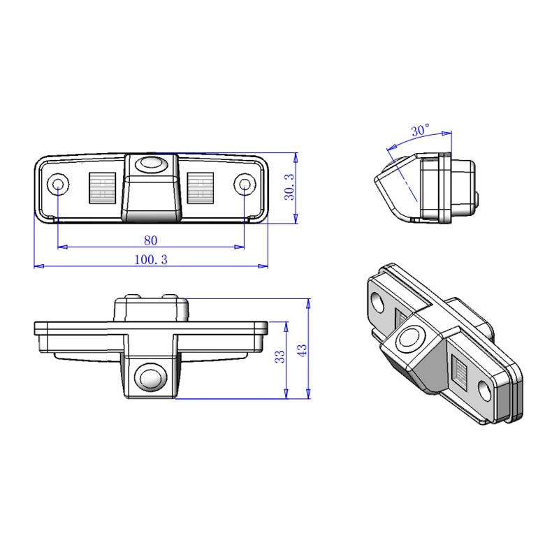 100.3*30.3*43mm For Subaru Forester Impreza WRX Outback