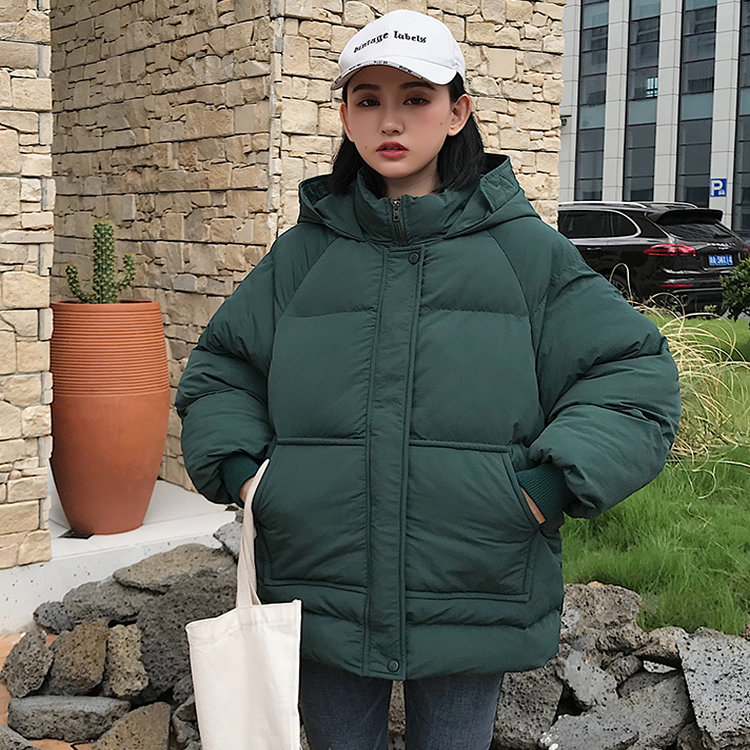 Japanese Style Women   Parka   2018 Fashion Long Sleeve Hooded   Parka   Femme Zipper Thicken Warm Casual Outwear Solid Overcoat Jacket