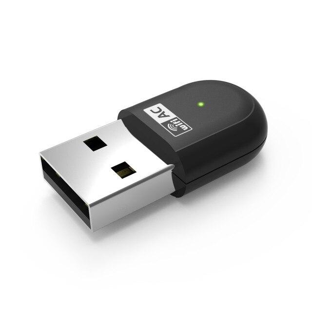 Mini 2.4 G 150 M adaptador Wifi 802.11AC 5 G 433 Mbps Wi Fi USB placa de rede sem fio para Laptop sem antena