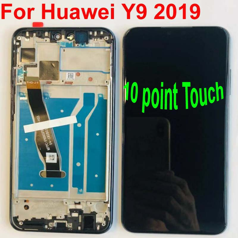 6.5'Full LCD DIsplay+Touch Screen Digitizer Assembly For Huawei Y9 2019 Original LCD JKM-LX1 JKM-LX2 JKM-LX3 With Frame+tools