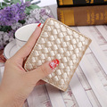 Hot Women Short Wallets PU Leather Female Plaid Purses Card Holder Wallet Fashion Woman Small Hasp Wallet With Coin Purse