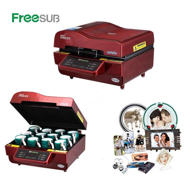 ST-3042 Automatic 3D Sublimation Heat Press Printer 3D Vacuum Heat Press Machine For Cases Mugs Plates Glasses