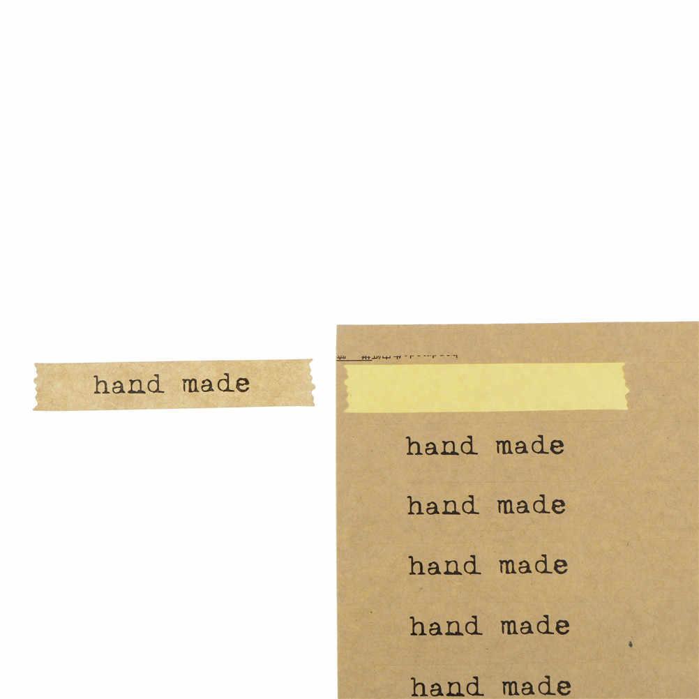 5 hojas de papel de embalaje hecho a mano sello pegatinas DIY pan pegatinas niños fabricación caja de regalo pegatinas 20 cm X 15 cm