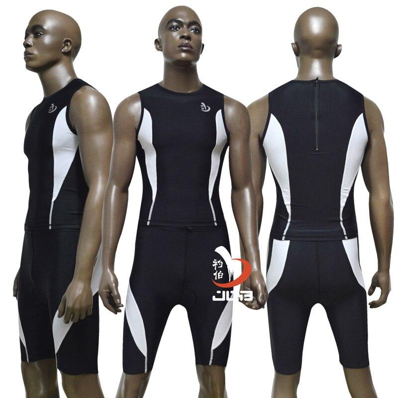 Heren Zomer Ironman Triathlon Tri Suit 4D COOLMAX Pad Shorts Fiets - Sportkleding en accessoires