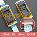 Program Test new TSOP48 On line test socket SMD welding TSOP48-TSOP48 ic socket Adapter Pitch=0.5mm