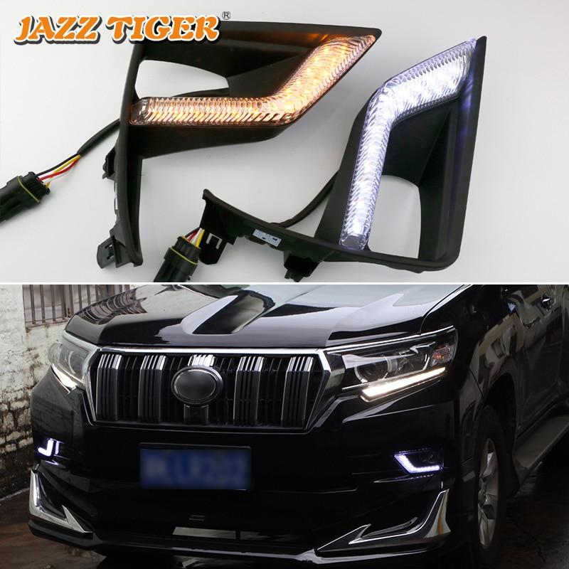 JAZZ TIGER Yellow Turn Signal Function 12V Car DRL Lamp LED Daytime Running Light Daylight For