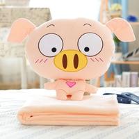 candice guo! cute plush toy cartoon pig cushion blanket funny expressions piggy doll children girls birthday Christmas gift 1pc