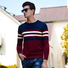 2017 New Autumn wintersweater men brand clothing fashion men pullover quality striped knitted sweater male