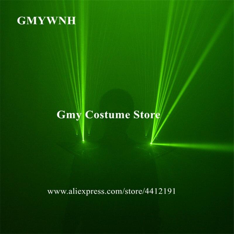 Levering M65 Groene Laserstralen Licht Kostuums Dance Show Draagt Laser Vest Robot Mannen Oplaadbare Schouder Gloeiende Laser Man Projector Dj