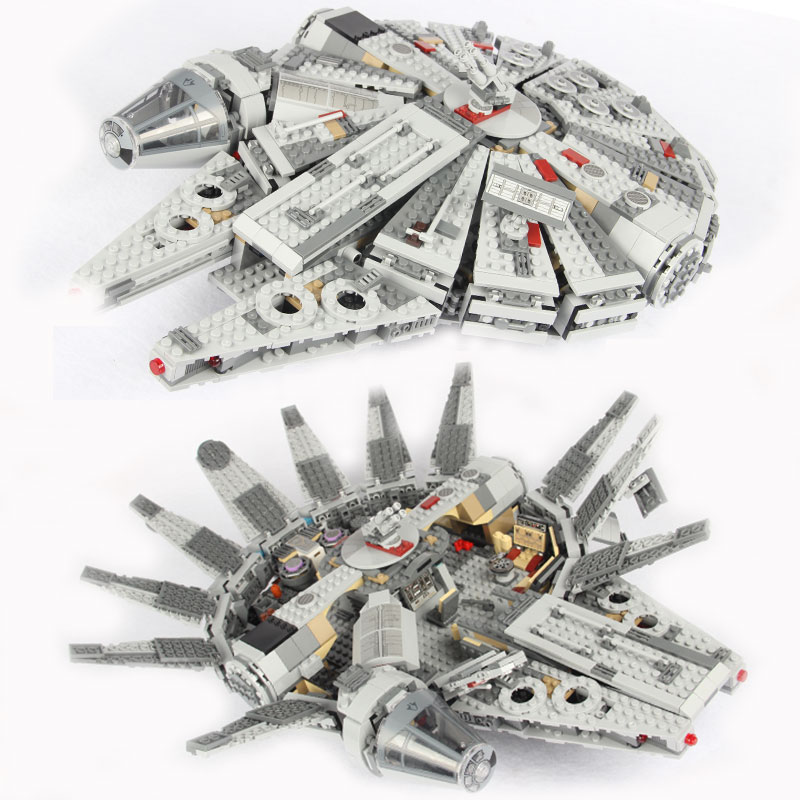Mailackers Millennium Falcon Legoing Star Spaceship Wars Red Five X Starfighter Set Building Blocks Starwars Toys  For  Children