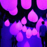 5 шт. забавные надувные ПВХ светодиодный шар сенсорный инфекции постепенное обесцвечивание капли воды форма висит декор светодиодный шар с