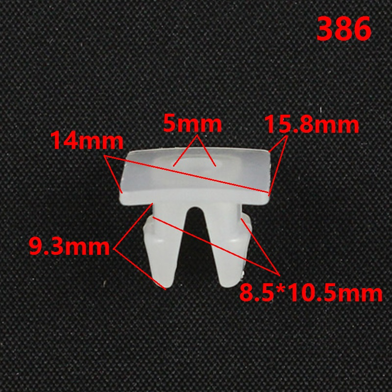 Kelimi Car fog lamps clips retainer buckle snaps White Nylon Auto Grille headlight Nut Grommet Retaining Clip in Auto Fastener Clip from Automobiles Motorcycles