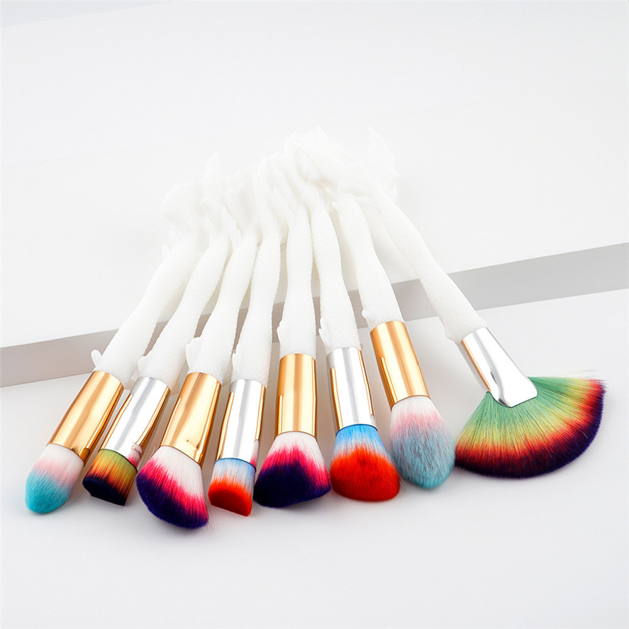 New Arrival HAICAR 8PCS Pro Women Beauty Cosmetic Makeup Brush Lip Makeup Brush Eyeshadow Brushes Tool Christmas Gift new store free shipping beauty and the beast rose gold makeup brush cosmetic brush woman gift eyeshadow contour concealer