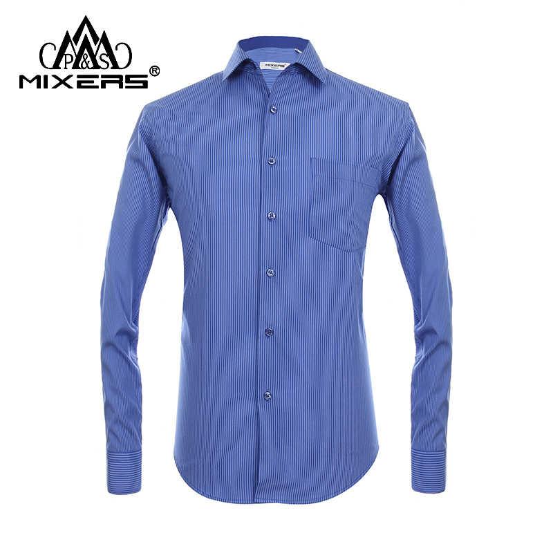 ブランド 2018 ストライプ男性ドレスシャツ長袖レギュラーフィットビッグサイズレッドカジュアルシャツ男性綿正式なシャツ男性服 2018