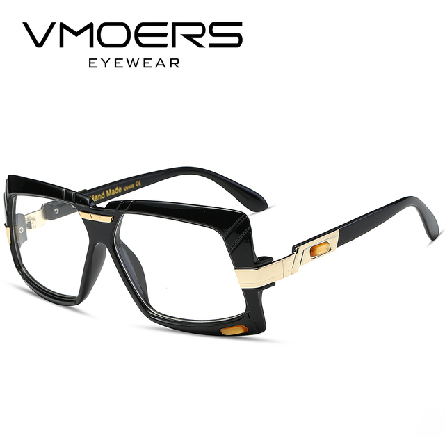 VMOERS High Quality Square Eyeglasses frames Men Black Plastic Clear ...
