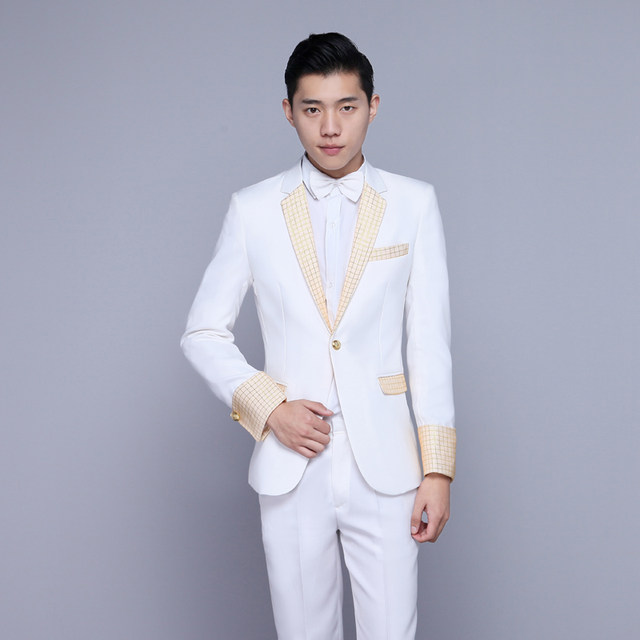 White and Gold Suits