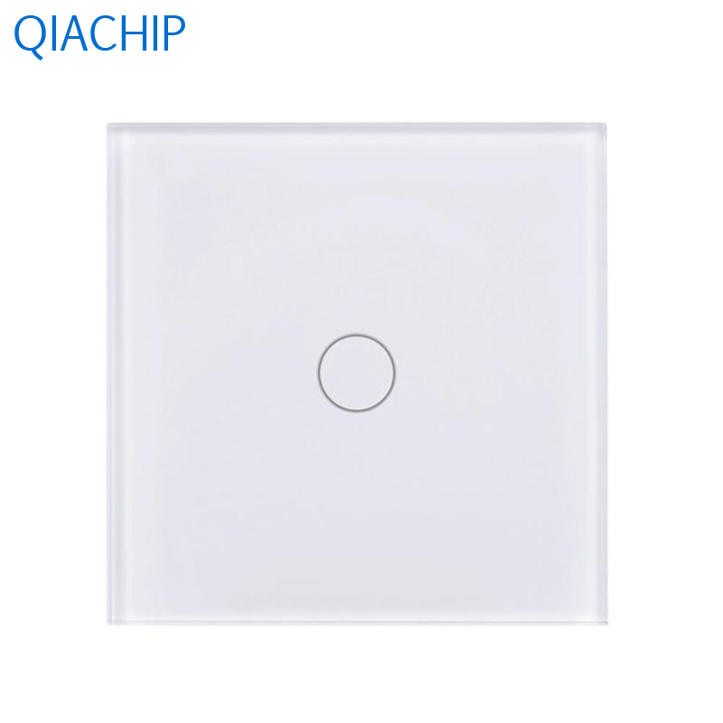 White EU Switch 1 Gang Light Wall Switch APP Remote Control Switch 220V  Touch Screen Tempered Glass Panel Timing for Kitchen us 1gang hotel tempered glass panel smart house wall light switch remote control switch touch control light switch led indicator