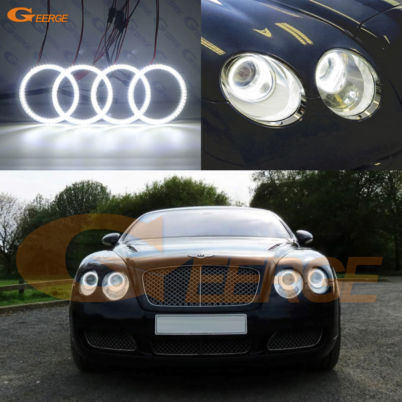 For Bentley Continental Flying Spur 2006 2012 Excellent Ultra bright 3528 SMD led Angel Eyes kit
