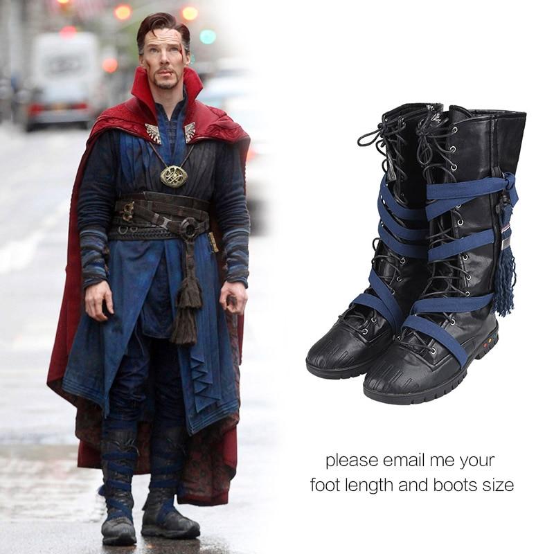 129687371d7f8 US $47.48 18% OFF|Doctor Strange Cosplay Shoes Stephen Steve Vincent  Strange Cosplay Boots Adult Men Movie Superhero Shoes Halloween Custom  Made-in ...