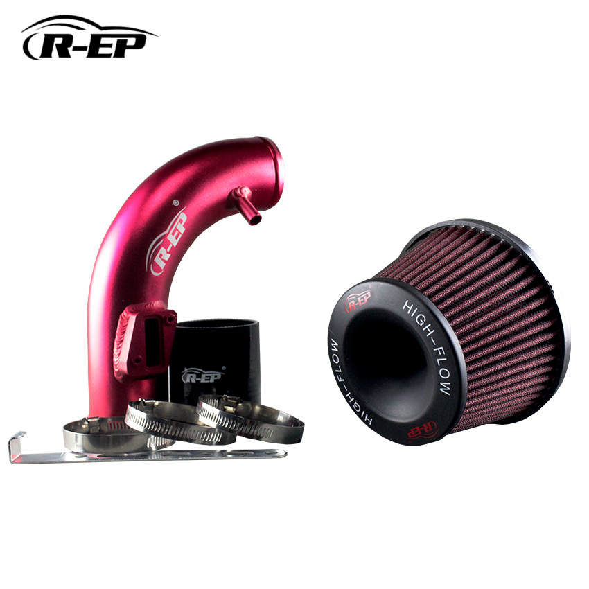 R-EP Performance Cold Air Intake Hose For Honad Fit 1.5L 2015-2017 with Air Filter cnspeed air intake pipe kit for ford mustang 1989 1993 5 0l v8 cold air intake induction kits with 3 5 air filter yc100689