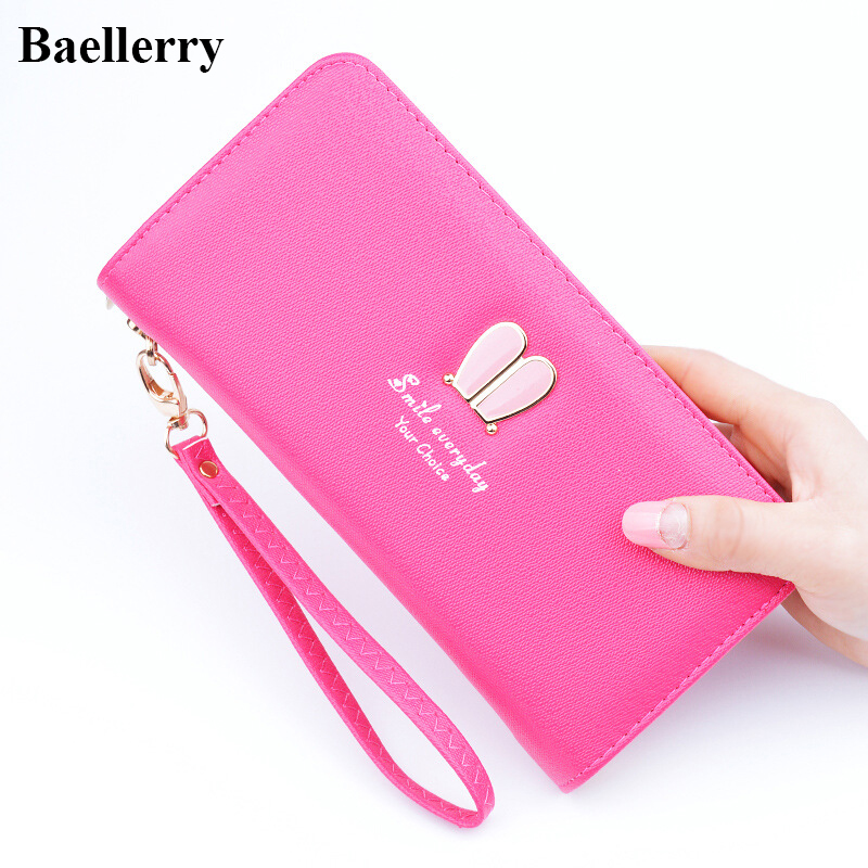 New Designer Leather Wallets Women Brand Zipper Long Coin Purses Gift Card Holder Clutch Wristlet Phone Wallets Female Money Bag luxury brand women wallets business wallet long designer double zipper leather purses id card holder purse phone case clutch