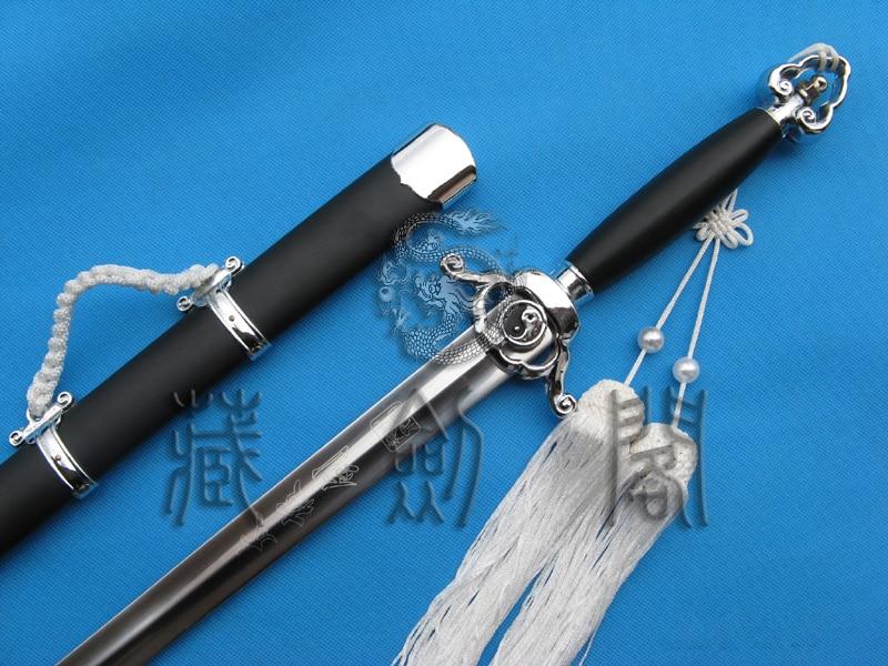 Flexible Silver Yin Yang Tai Ji Jian