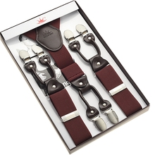 coffee suspender 6 clips suspender for man free shipping