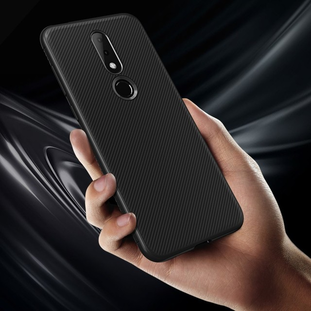 newest f8b08 5cc28 US $3.49 30% OFF|Lenuo sFor Nokia X6 Case Nokia 6.1 Plus Cover Le Shen II  Shockproof Soft TPU Carbon Fiber Brushed Back Cover Case-in Fitted Cases ...