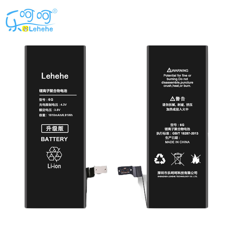 New 100% Original LEHEHE Battery For iphone 6 6G 1810mAh High Quality 0 cycle Battery Year warranty Replacement Free Tools Gifts