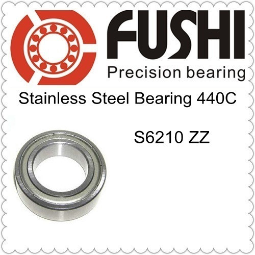 S6210ZZ ABEC 1 50x90x20mm Stainless Steel Ball Bearing SS6210ZZ