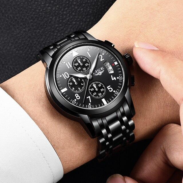 Купить lige 2020 мужские часы лучший бренд класса люкс модные деловые картинки цена