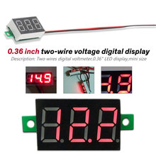 Digital Voltmeter DC 4.5V to 30V Digital Voltmeter Voltage Panel Meter 0.36 inch Red LED Display For Electromobile Motorcycle Ca new mini 0 36 inch dc 0 100v 3 bits digital red led display panel voltage meter voltmeter tester 39%off