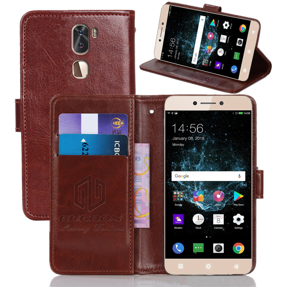 GUCOON Classic Wallet Case for LeTV LeEco LeRee Le3 PU Leather Vintage Book Flip Cover Magnetic Fashion Phone Cases