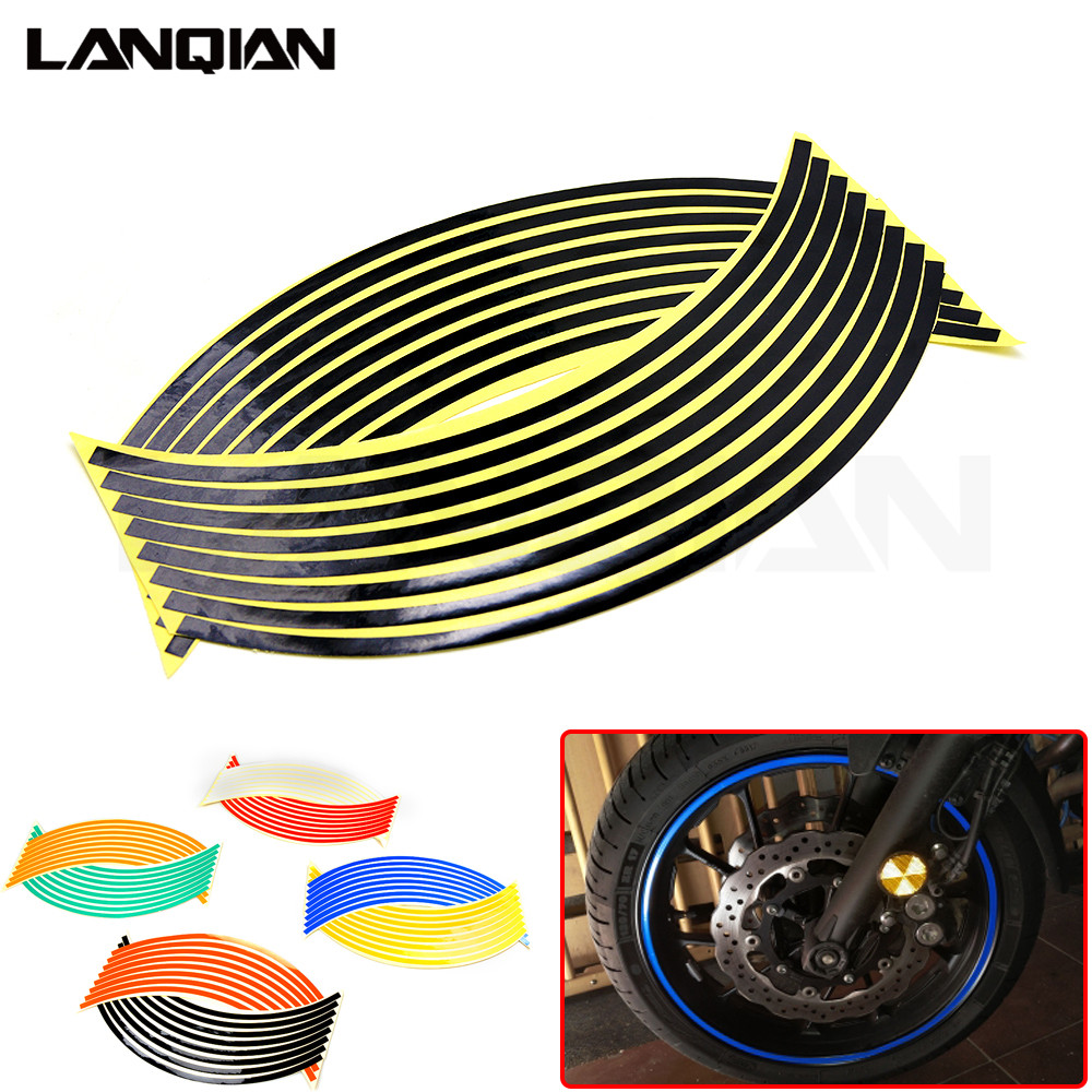 Hot Motorcycle Wheel Sticker Reflective Decals Rim Tape Car/bicycle For SUZUKI RMZ250 RMZ450 DRZ400SM RMZ 250 450 DRZ 400 SM
