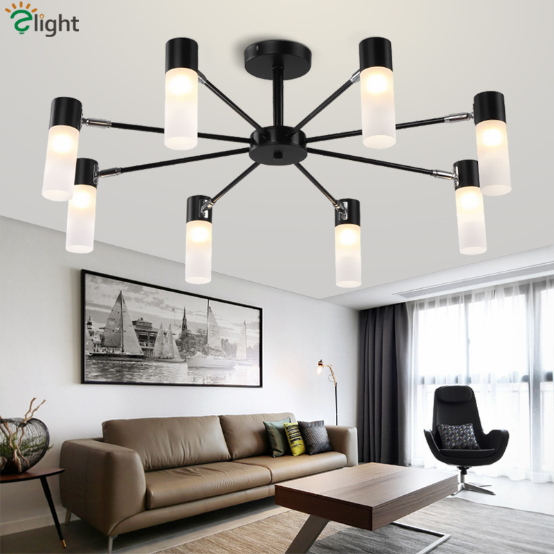Nordic Minimalism Metal Led G9 Chandelier Acrylic Shades LED Ceiling Chandelier Lighting Lustre Luminaria Indoor Lighting