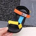 Dollplus/детские сандалии для девочек; обувь из натуральной кожи для мальчиков; летние сандалии для мальчиков; пляжная Повседневная обувь; детс...