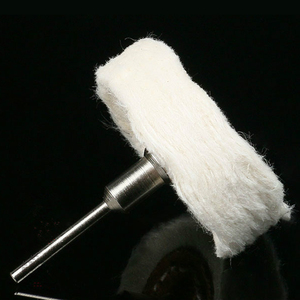 Image 4 - T Style Polish Buffing Wheel Grinding Head Cloth Dremel Wheel Grinder Brush For Rotary Abrasive Tools Dremel Accessories Shank
