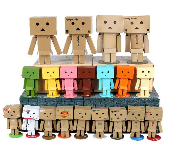 New hot sale anime figure PVC doll toys Mini Danboard Danbo PVC doll 8CM wonder festival 114 Chariot free shipping