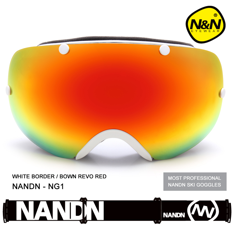 NANDN ski goggles double UV400 anti-fog big ski mask glasses skiing men women snow snowboard goggles NG1 nandn unisex ski goggles double uv anti fog big ski mask glasses women men skiing snow snowboard goggles multifunction eyewear