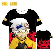 Anime SOULEATER T-shirt Men Women Short Sleeve Summer dress Cartoon Soul Eater  t shirt