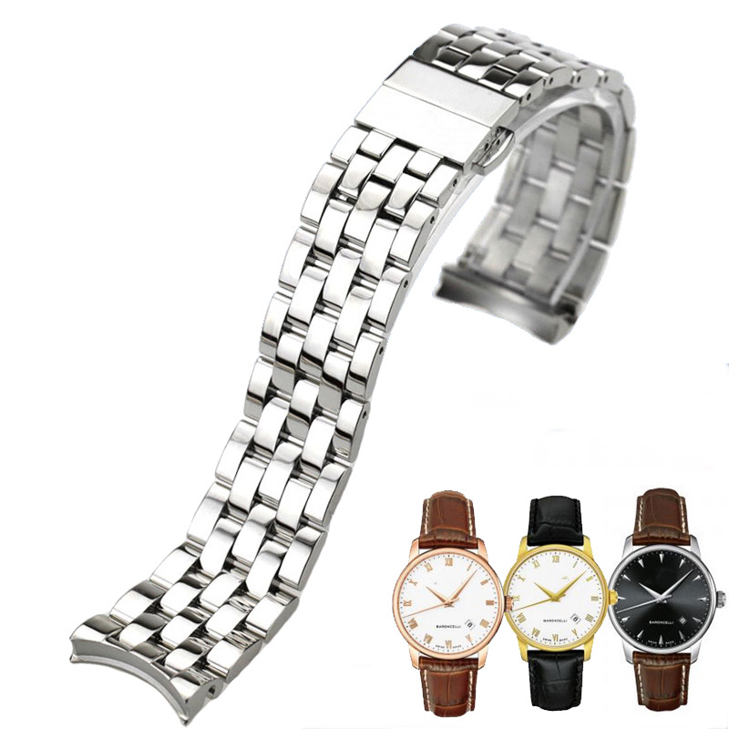 ISUNZUN Men's Watch Strap For MIDO Mido Baroncelli M8600B Watches Accessories 20mm Watch Band Stainless Steel Watchbands | Fotoflaco.net