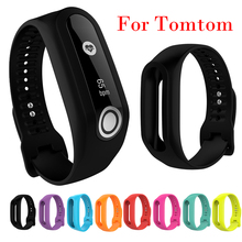Sport Silicone Replacement Wristband Strap for Tomtom Touch Bracelet Watch Fitness Tracker Black Blue Wholesale